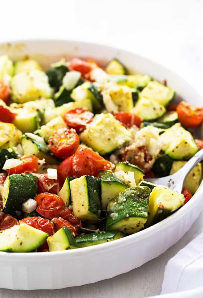 Baked Italian Zucchini, Tomatoes and Onions | The Blond Cook - healthy zucchini recipes side dish