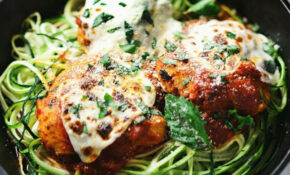 Baked Parmesan Chicken With Zucchini Noodles – Zucchini Noodles And Chicken Recipes