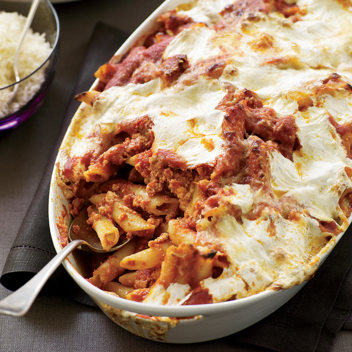 Baked Penne with Sausage and Creamy Ricotta Recipe - Maria ..