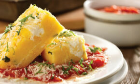 Baked Polenta With Tomato Sauce And Ricotta – Polenta Recipes Vegetarian