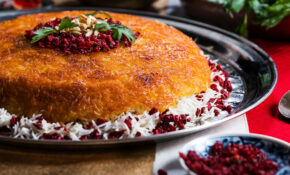 Baked Rice (Tahchin) Recipe | Tasting Table – Recipes Persian Food