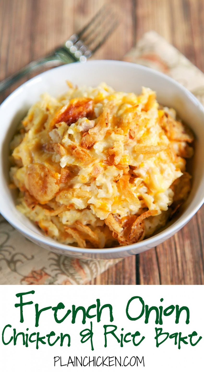 baked rice with chicken broth - french recipes chicken