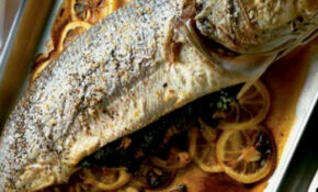 Baked Sea Bass With Lemon & Herbs (with Tarator Sauce ..