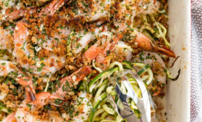 Baked Shrimp Scampi With Zucchini Noodles – Dinner Recipes With Zucchini Noodles