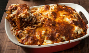 Baked Spaghetti With Sausage, Peppers, And Onions Recipe ..