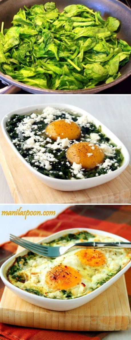 Baked Spinach and Eggs Delicious Recipes - baking ..