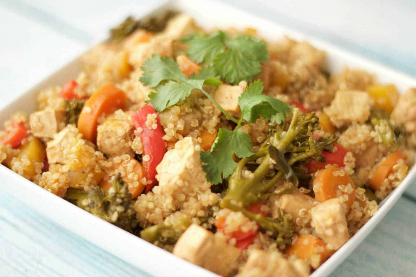 Baked Tofu and Vegetable Casserole with Quinoa - recipes with quinoa vegetarian