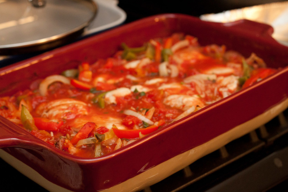 Baked Tomato Chicken and Rice - recipes vegetable casseroles healthy