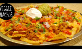 Baked Veggie Nachos Recipe – Nachos Recipes Vegetarian