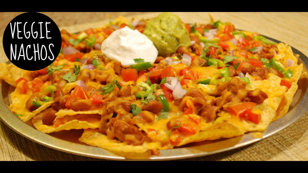 Baked Veggie Nachos Recipe - nachos recipes vegetarian