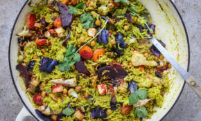 Baked Winter Vegetable Pilau Rice Vegan – Food To Glow – Recipes Vegetarian Winter