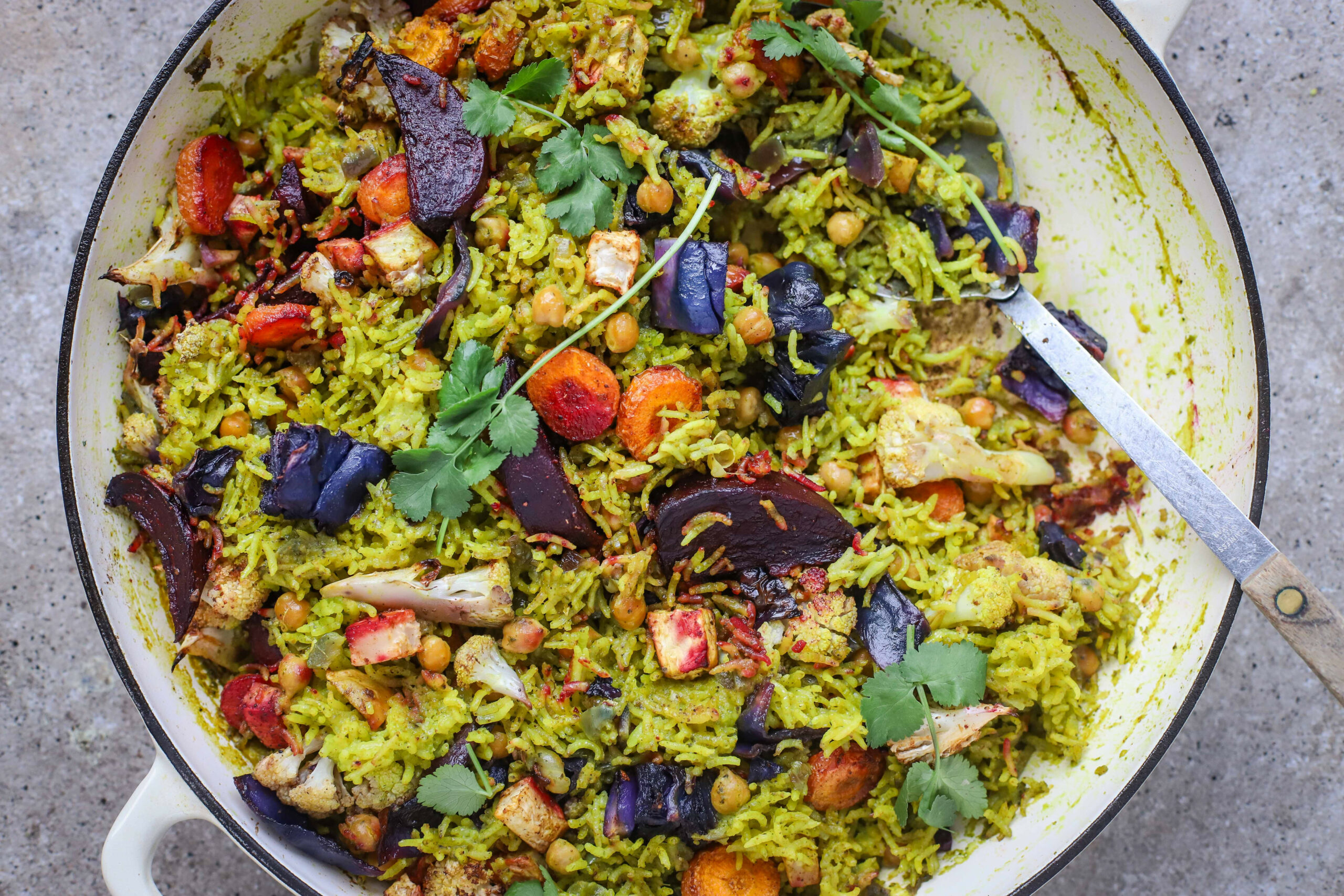 Baked Winter Vegetable Pilau Rice Vegan - Food To Glow - Recipes Vegetarian Winter