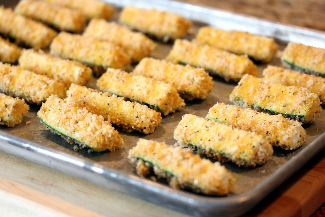 Baked Zucchini Fries - North Carolina Research Campus - baked zucchini recipes healthy