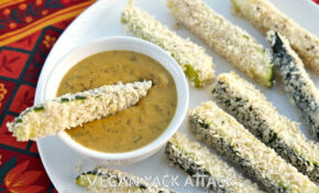 Baked Zucchini Sticks With Spicy Queso Dip – Baked Zucchini Recipes Healthy