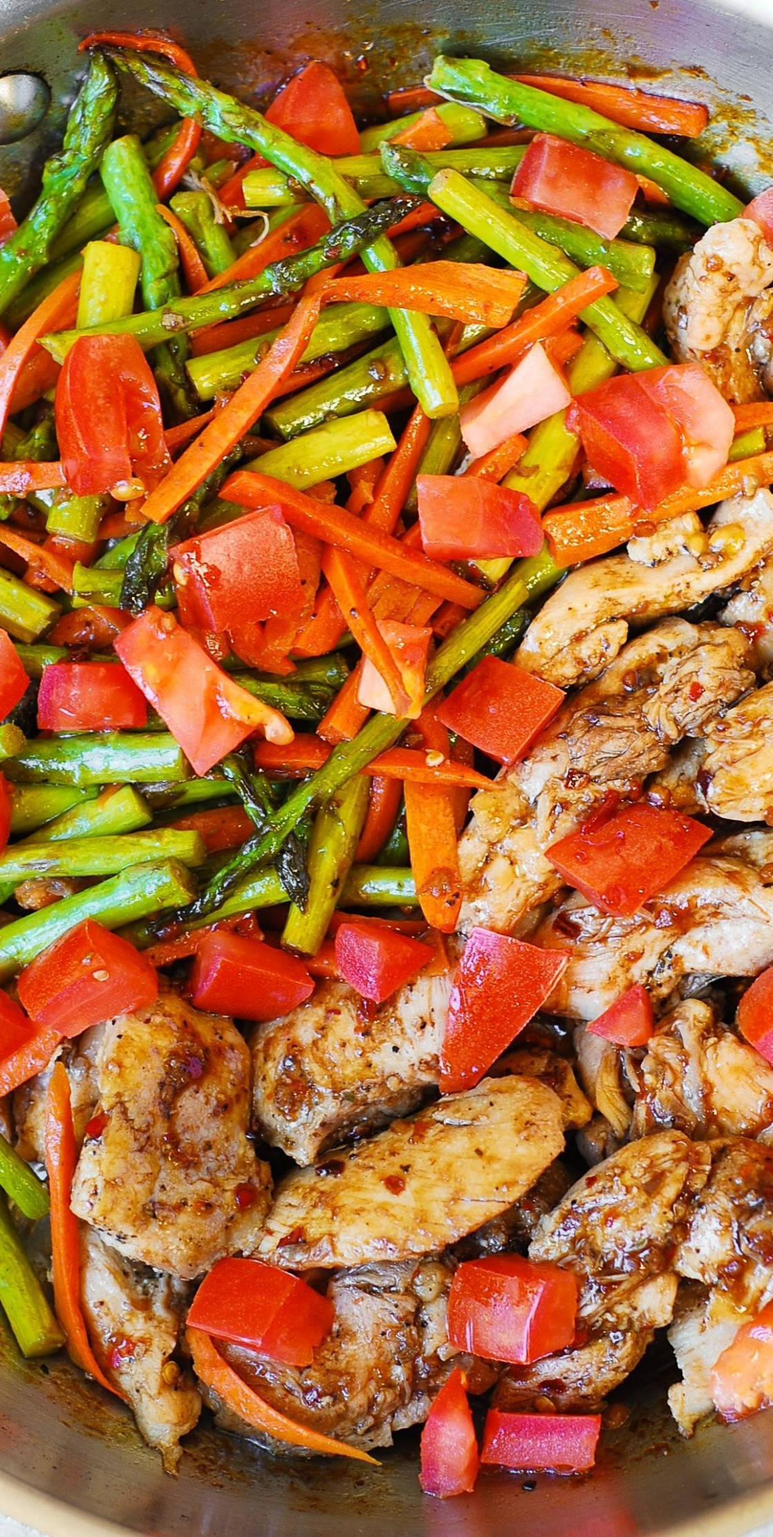 Balsamic Chicken and Vegetables - low calorie recipes dinner