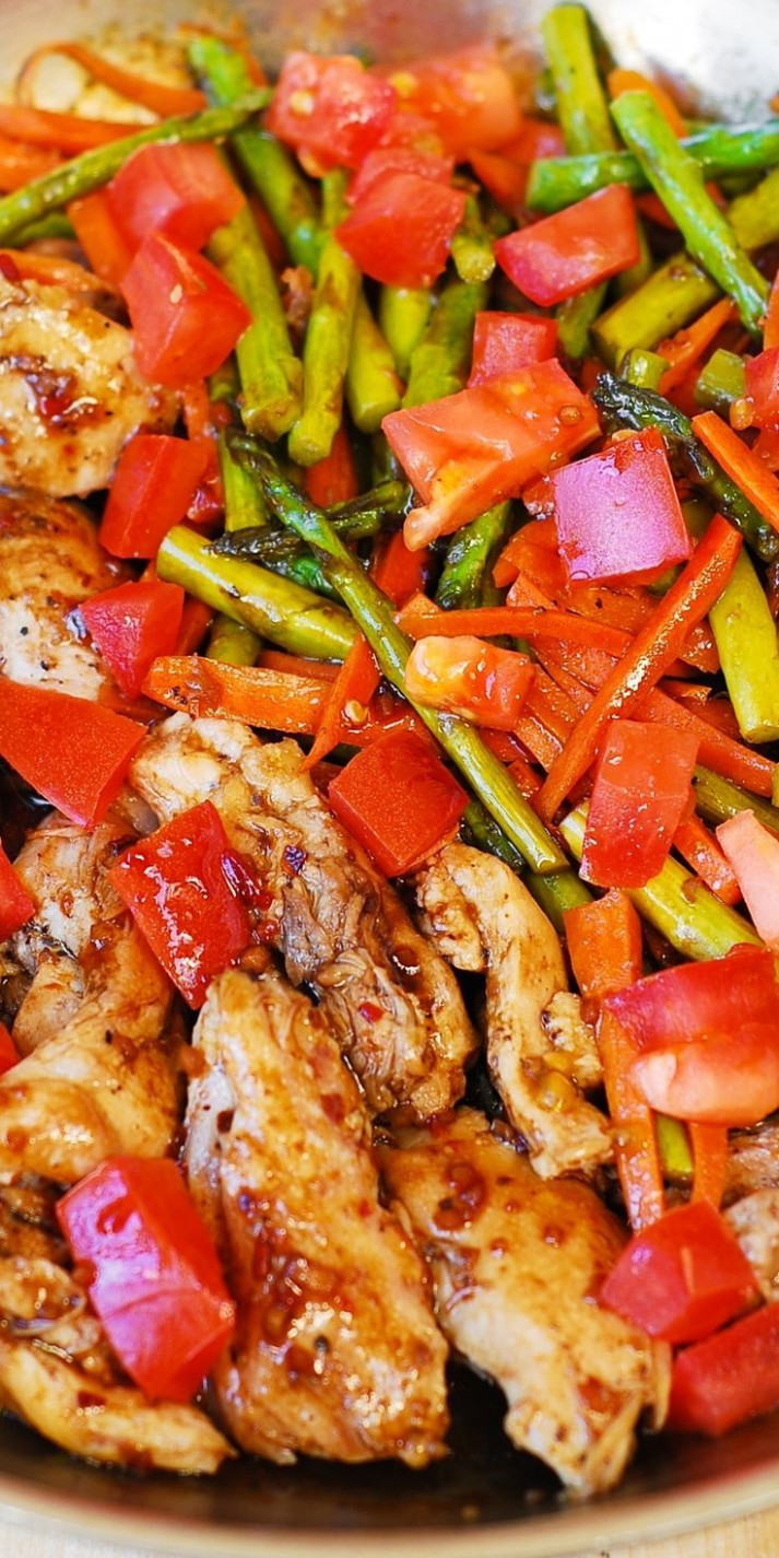 Balsamic Chicken and Vegetables - low cholesterol recipes chicken