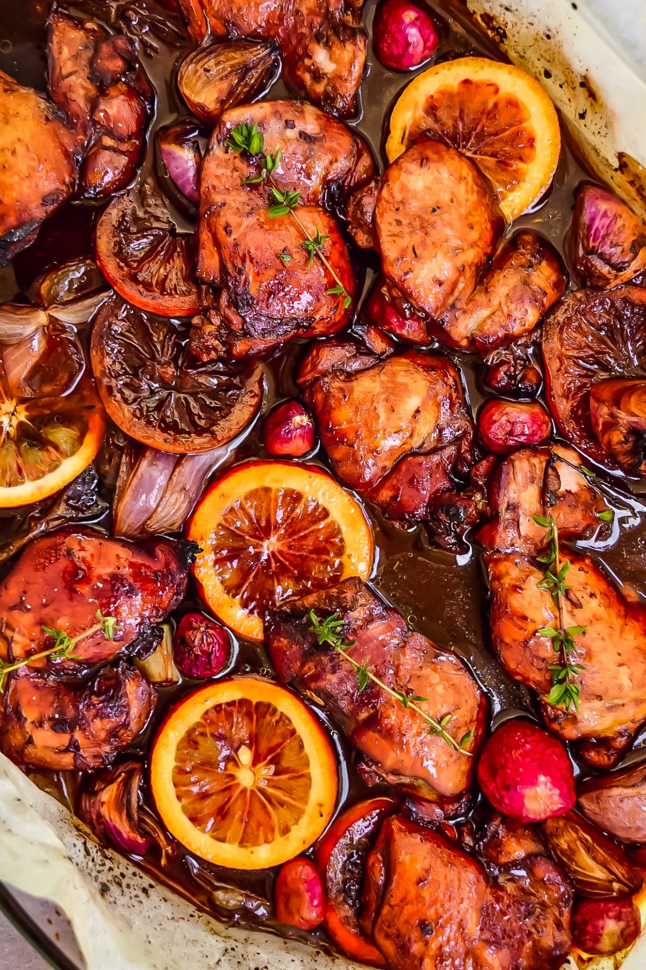 Balsamic Glazed Chicken Recipe - Sheet Pan Balsamic Chicken Thighs - chicken recipes tasty