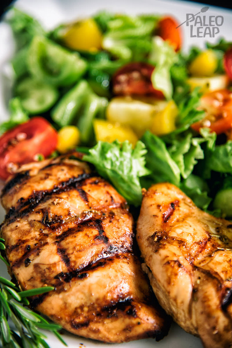 Balsamic Grilled Chicken With Greek-Style Salad Recipe - chicken recipes greek