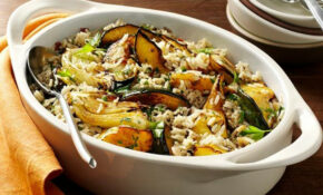 Balsamic Roasted Fennel & Acorn Squash Rice Casserole ..