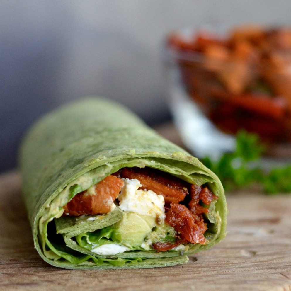 Balsamic Roasted Vegetable Wrap - Wrap Recipes Vegetarian