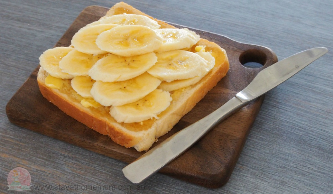 Banana And Honey Toast | Stay At Home Mum - Healthy Xmas Recipes