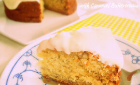 Banana Cake With Caramel Buttercream – Recipes Jamaican Food