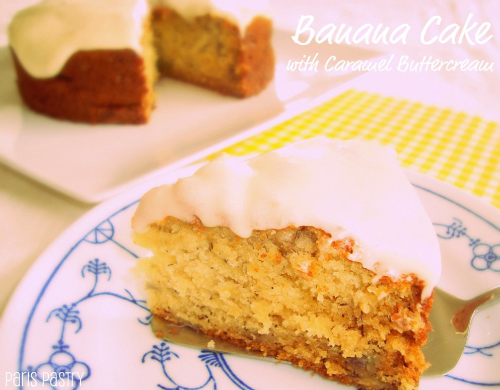 Banana Cake with Caramel Buttercream - recipes jamaican food