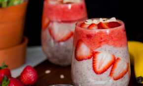 Banana Strawberry  Chia Pudding Recipe – Quick Healthy Food Recipes
