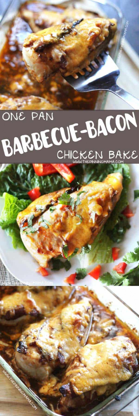 Barbecue Bacon Chicken Bake - One Dish Easy Dinner Recipe! - dinner recipes with bacon