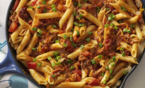 Barbecue Pork And Penne Skillet Recipe Taste Of Home Cooking C – Chicken Recipes Taste Of Home