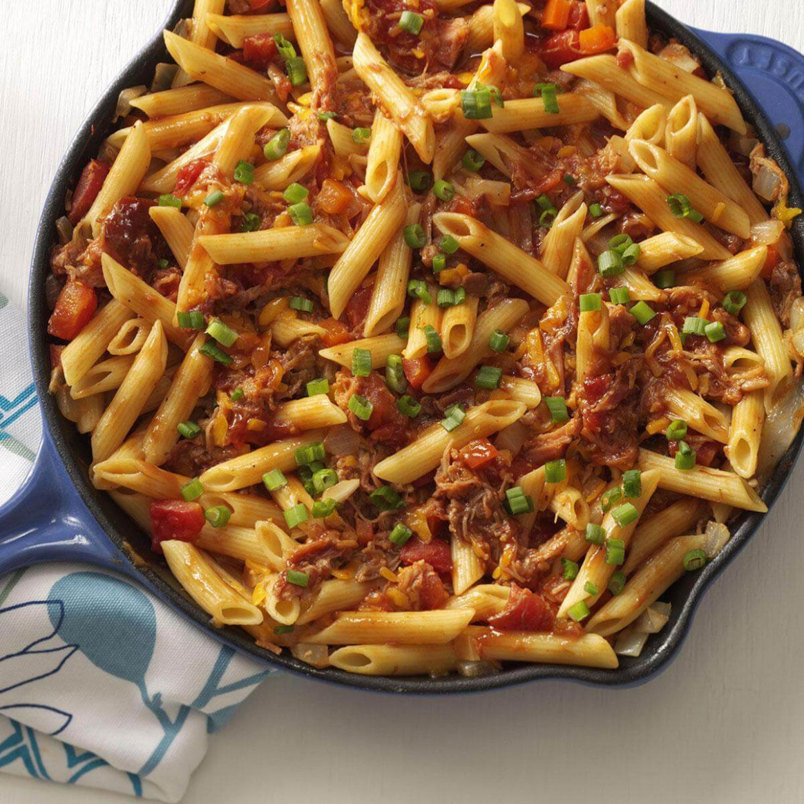 Barbecue Pork And Penne Skillet Recipe Taste Of Home Cooking C - Chicken Recipes Taste Of Home