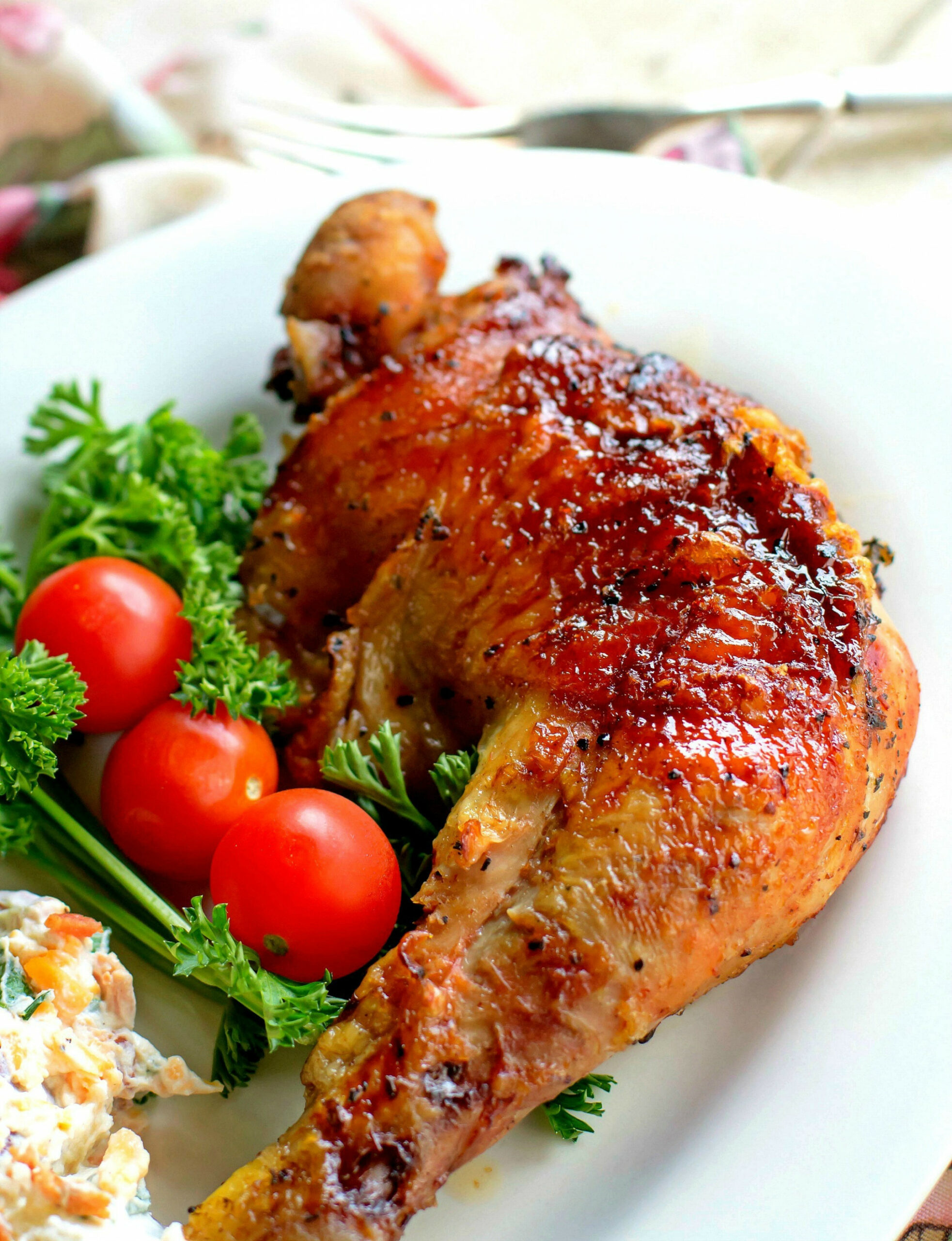 Barbecued Chicken Leg Quarters - Bunny's Warm Oven - recipes quarter chicken