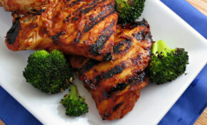 Barbecued Chicken On The Grill Recipe — Dishmaps – Grill Recipes Chicken