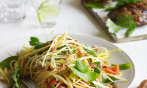 Barbecued Lemongrass Chicken With Green Mango Salad ..