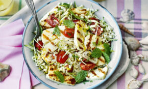 Barley, Courgette And Mint Salad With Barbecued Halloumi ..