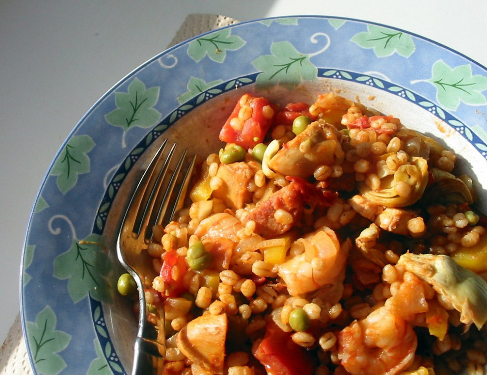 Barley Paella - paella recipes chicken