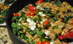 Barley Risotto With Eggplant And Grape Tomatoes – Food Recipes Under 400 Calories