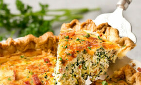 Basic Cheesy Spinach Quiche With Bacon – Spinach Recipes Dinner