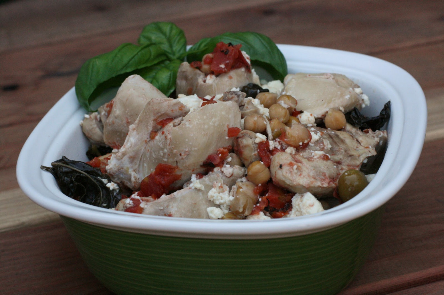 Basil Chicken with Feta Slow Cooker Recipe - A Year of ..
