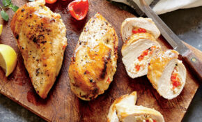 Basil, Feta, and Quinoa Stuffed Chicken Breasts Recipe ...