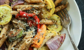 Basil Pesto Pasta With Roasted Vegetables   Easy Healthy ..