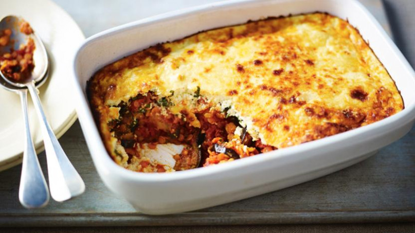 BBC Food - Recipes - Red Lentil And Aubergine Moussaka - Www