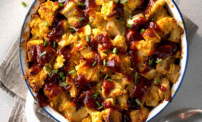 BBQ Chicken And Apple Bread Pudding Recipe | Taste Of Home – Recipes Videos Dinner