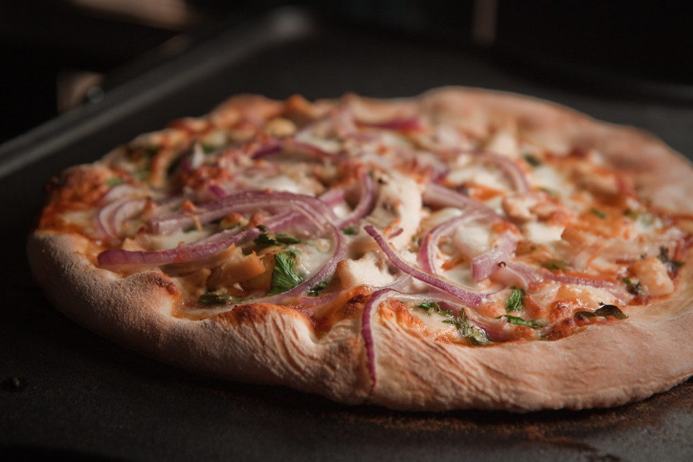 BBQ Chicken Pizza on The Griddle - recipes rotisserie chicken
