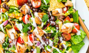 BBQ Chicken Salad With Creamy Ranch – Recipes Of Healthy Salads