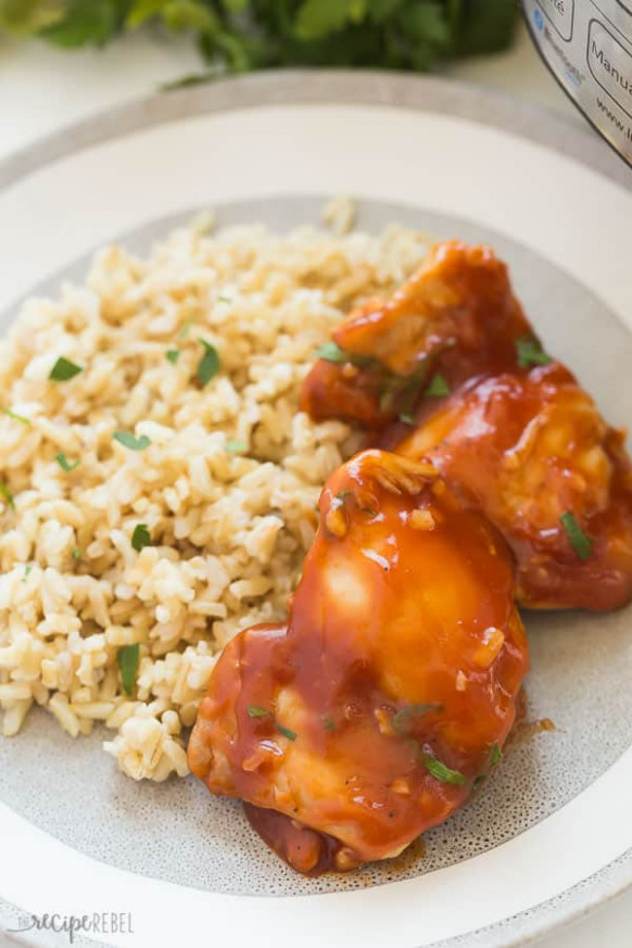 BBQ Instant Pot Chicken Thighs: From FRESH Or FROZEN - Recipes Instant Pot Chicken Thighs