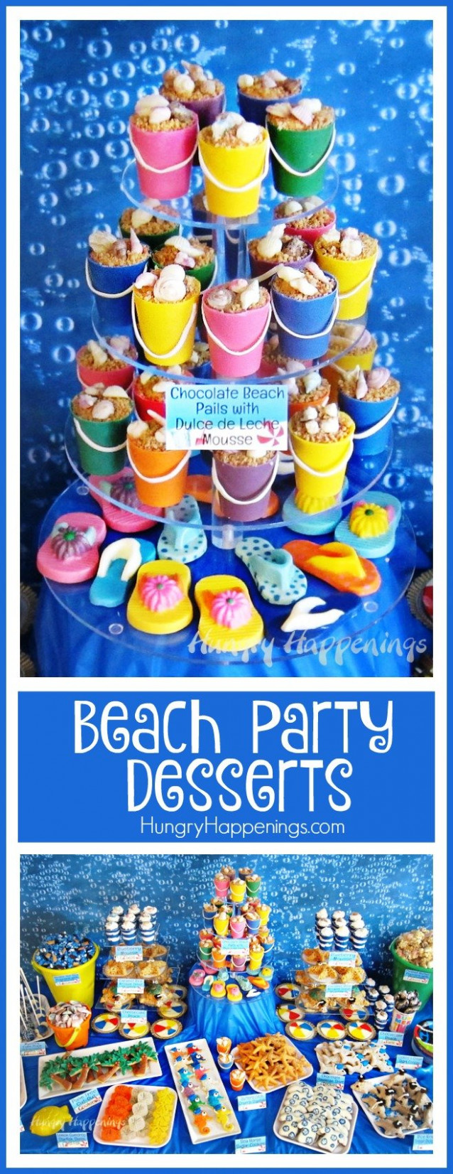 Beach Themed Party Ideas & Under the Sea Desserts - ocean themed food recipes