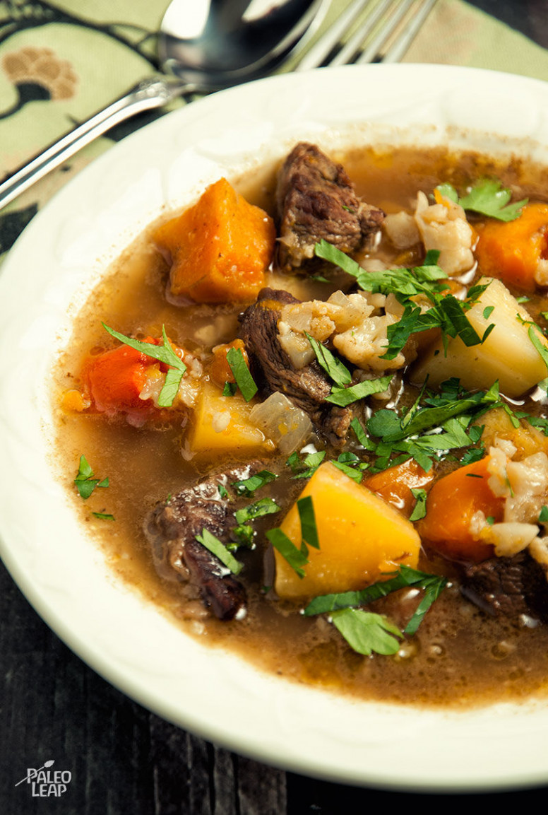 Beef and Winter Vegetable Soup | Paleo Leap - paleo recipes vegetarian