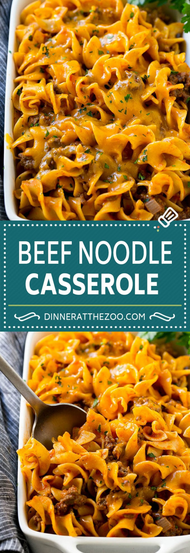 Beef Noodle Casserole - Dinner at the Zoo - dinner recipes hamburger