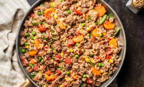 Beefy Rice Skillet | Ready Set Eat – Healthy Mince Recipes